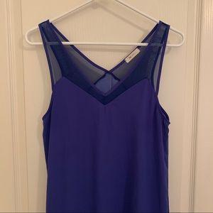 EVERLY Royal Blue Mesh Dress